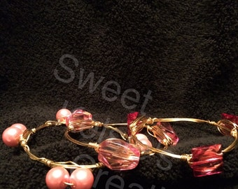 Pink Bangles Sold Seperate