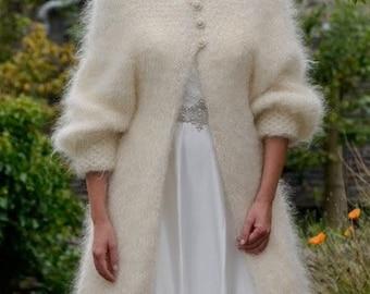 Hand Knitted Angora Mohair 'Fur' Coat