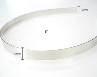 5 Pieces 10MM (0.39inch) Metal Headband with Bent End