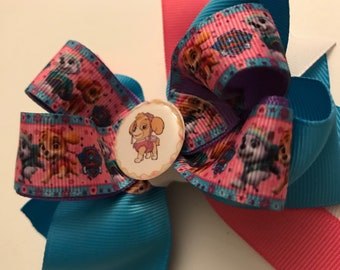 "Paw Patrol ""Skye"" Hair Bow"