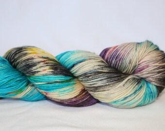 Hand Dyed Yarn - Superwash - Sock Yarn - 80/10/10 Merino/Cashmere/Nylon - Variegated - MCN - 'Jazz Hands'