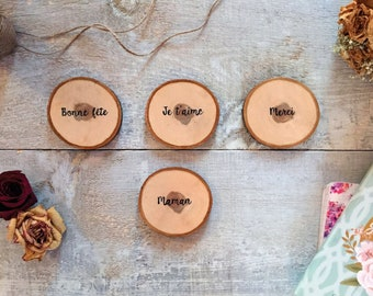Rustic coasters - Mother's day