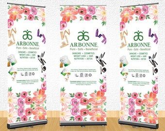 Arbonne Pull Up Banner (02) - digital files supplied ONLY