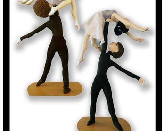 NI104E - La Danse... Male and Female Art Dolls In Action PDF Cloth Doll Making Patterns