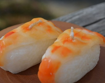 Shrimp sushi candle