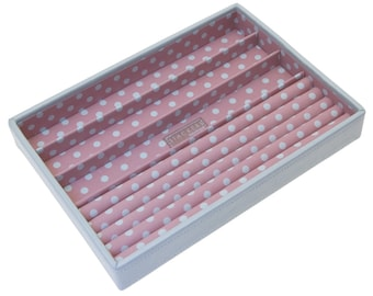Stackers Medium Blue & Pink Stacker Jewellery Tray - Ring Holder LC70412