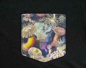 Sea Anemones Pocket Shirt (Ernst Haeckel)