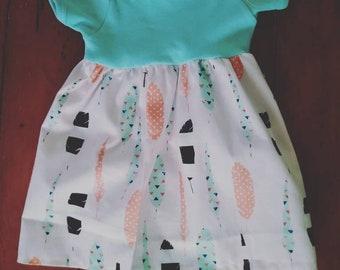 Infant girls onesie dress