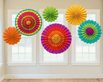 Fiesta Paper Fan Decorations - Party Decorations party themes reception theme ideas  birthday party supplies ideas party favors party store