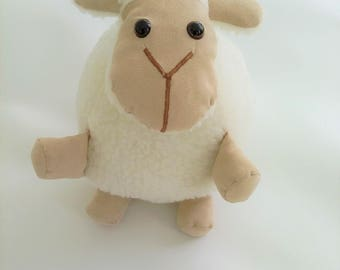 This soft toy, sheep plush faux fur