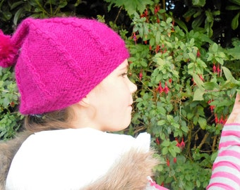 Knitting Pattern Hat Beanie Pixie Hat  Slouchy Hat - Fairy Glen Pixie Hat (3 Sizes Toddler - Adult)