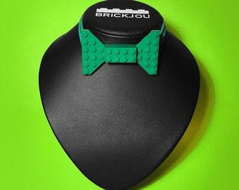 Bow tie with green LEGO® bricks