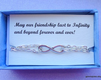 Infinity bracelet Gift, Friendship gift, Silver infinity bracelet, Infinity bracelet UK, Infinity jewelry, Bridesmaids gifts
