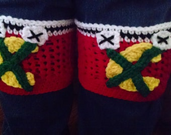 Blackhawks Boot Cuffs