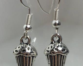 Mini Cupcake, Dainty Earrings, Miniature Food, Cupcake Earrings, Cupcake Charms, Food Earrings, Gift Ideas, Sweet Tooth, Cupcake Jewelry,