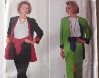 Misses/Misses Petite Jacket, Top, Skirt, Pants and Sash Sewing Pattern - Butterick 6683 - Sizes 12-14-16, Bust 34 - 38, Uncut