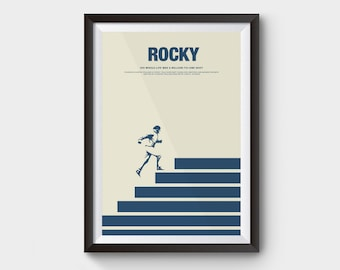Rocky - A3 movie poster, film poster, minimalist movie poster, quote, rocky poster, boxing, Sylvester Stallone, classic film, boxing poster
