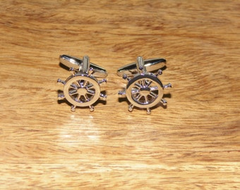 Nautical cufflinks, Sailing cufflinks, sailing, ships wheel, nautical gifts, cufflinks, mens jewellery,nautical gifts, Maritime gifts