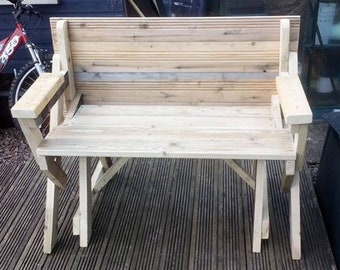 Compact bench - picnic table