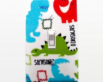 Dinosaur Light Switch Cover - Dinosaurs Switch Plate - Boys Dinosaur Bedroom - Dinosaur Nursery