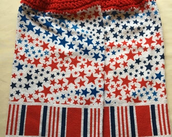 Red. White, Blue Kitchen Towel Set of 2