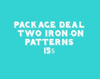Pattern Deal Any Two Iron on Embroidery Patterns