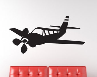 Airplane Vinyl Wall Decal Graphic