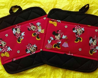 Disney Kitchen Minnie Mouse Pot Holders - Hot Pads