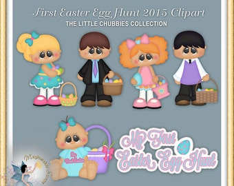 Baby  Clipart, Toddler, Chubbies, First Easter Egg Hunt 2015