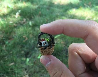Tiny basket Nibbly miniature