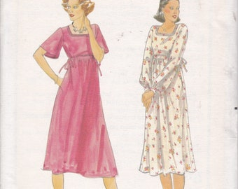 FREE US SHIP Butterick 5551 Sewing Pattern Vintage Retro 1970s 70s  High Waist Empire Dress Size 8 Bust 31 Factory Folded