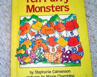 Ten Furry Monsters - Vintage Childrens Book - A Parents Magazine Original Read Aloud Book