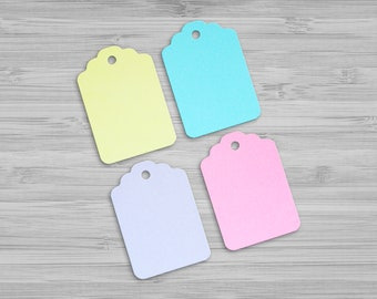 Gift Tags - Hang Tags - Blank Tags -  Wedding Favors - Baby Shower Favors  - Gift Wrapping Accessories - Blue , Pink , Yellow , Purple Tags