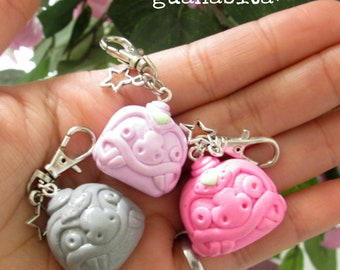 Chavin nailed head Charm/necklaces/kawaii Necklaces/Ceramica al Frio/Earrings