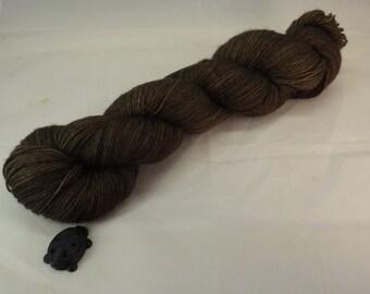 Pecan Brown Hand Dyed Sock Yarn