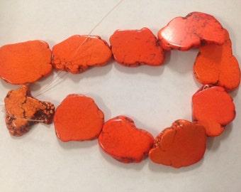 Magnesite Turquoise slab, orange