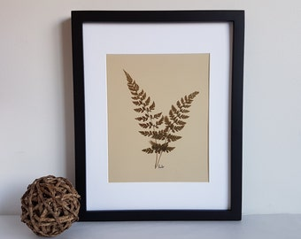 Pressed flower art  11x14 matted original pressed flower artwork made with real dried flowers - Wild flower art - Herbarium specimen art