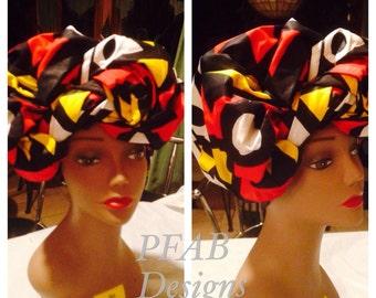 Ankara,African Print Head Wrap/ / African accessory fabric/ African Fabric/ Ankara Head Wrap