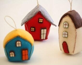 Houses sewing pattern (three)--- PDF --Beginner