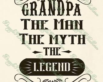 Granddad svg etsy grandpa granddad grandad grandaddy granddaddy legend myth fathers day father fathers svg png dxf eps cutting file shirt iron on cricut sil publicscrutiny Gallery