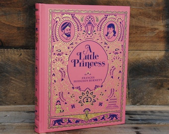 Hollow Book Safe - A Little Princess - Pink and Gold Leather Bound