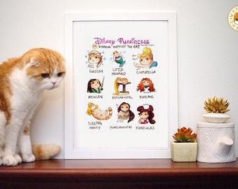 Cartoon Purrincess: Funny  Princess Cat Illustration