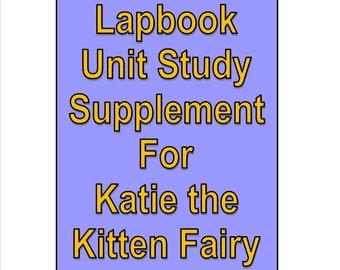 Lapbook Unit Study Supplement for Rainbow Fairies Katie the Kitten Fairy Pet Fairies