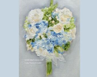 Custom Wedding Bouquet Painting in OIL by LARA 11x14