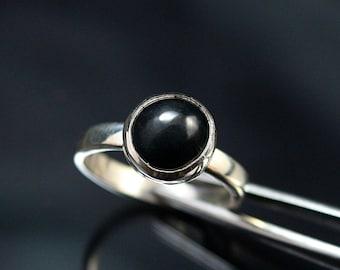Black Jade Silver Ring Jade Sterling Silver Ring Black Jade Ring Black Jade Ring  Black Jade Gemstone Ring