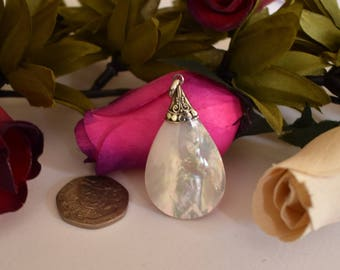Mother of Pearl Pendant, Sterling Silver 925