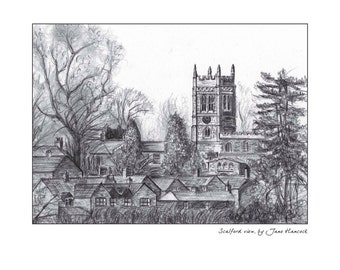 Greeting card - Scalford St Egelwin Church, Melton Mowbray