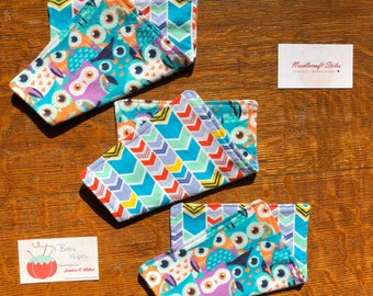 Limited Stock Owl Baby Wipe Set (3) |  Baby Girl | Shower Gift | Snuggle Flannel