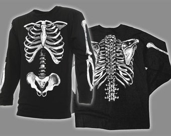 SKELETON BONES  - Long Sleeve T-shirt the original costume x-ray radiology scorn