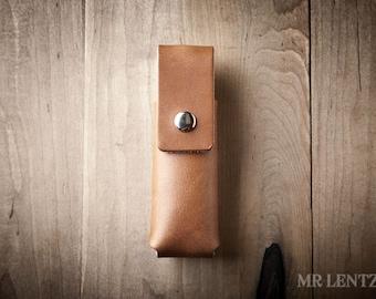 Leather Pocket Knife Sheath, Pocket Knife Case, Knife Case, Pocket Knife Belt Case 057